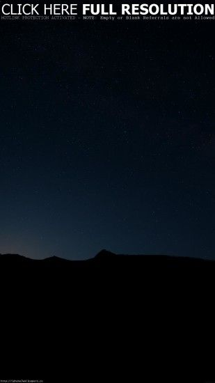 Mountains Night Silhouette Stars Sky iPhone 6 Plus HD Wallpaper Download  wallpaper for Android Beautiful Starry ...