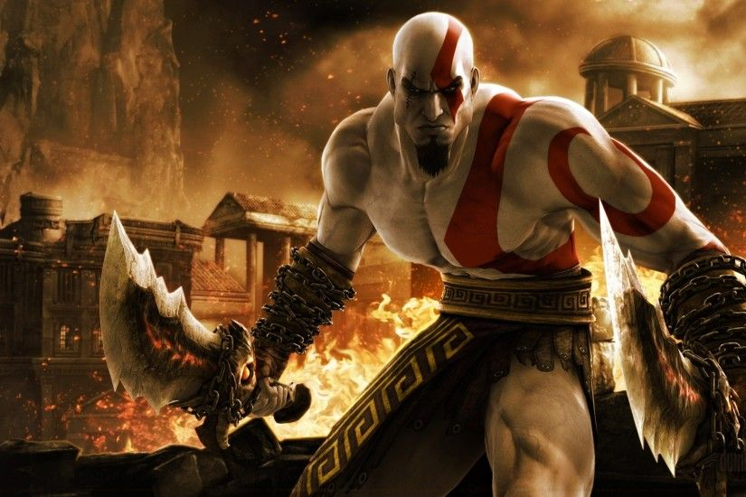 ... Kratos in God of War Games Wallpaper HD 1920x1080 | ImageBank.biz ...