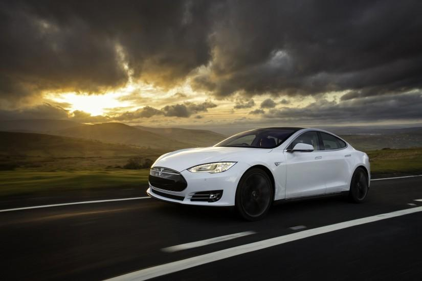 White Tesla Wallpaper 19182
