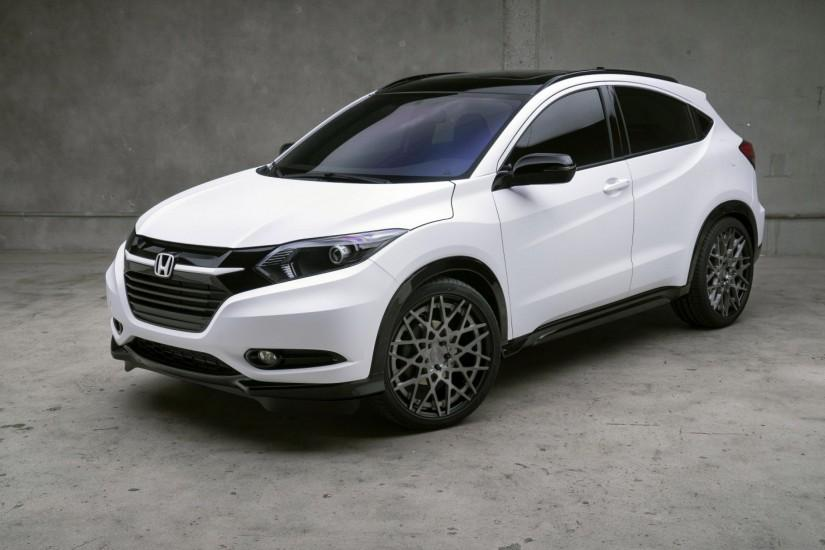 Preview wallpaper honda, hr-v, white, side view 3840x2160