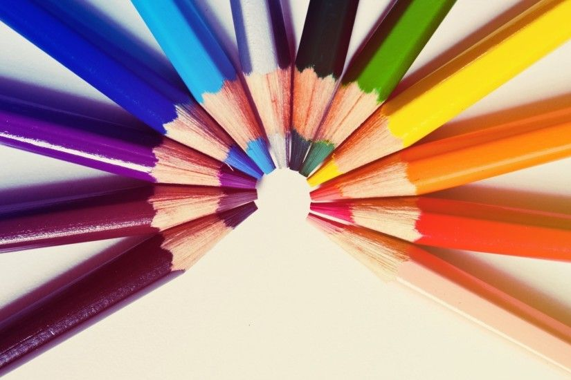 mood crayons color colored background wallpaper widescreen .