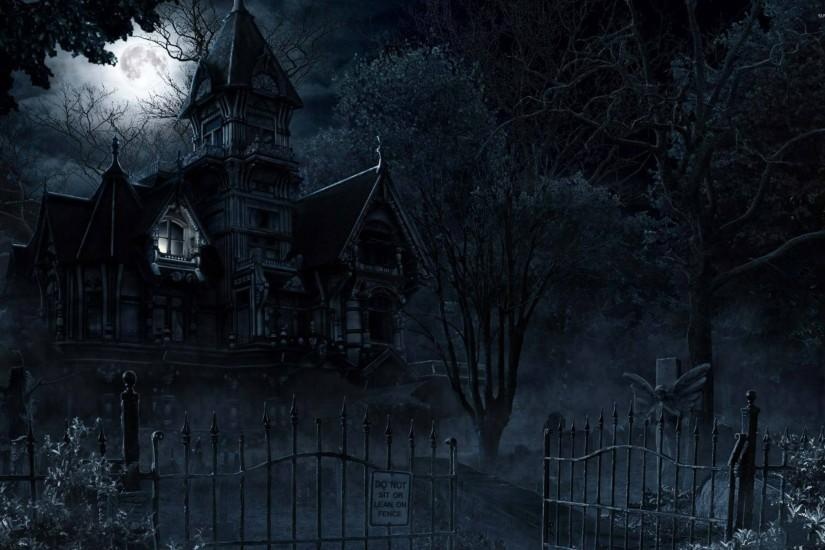 haunted mansion wallpaper 2560x1600 pc