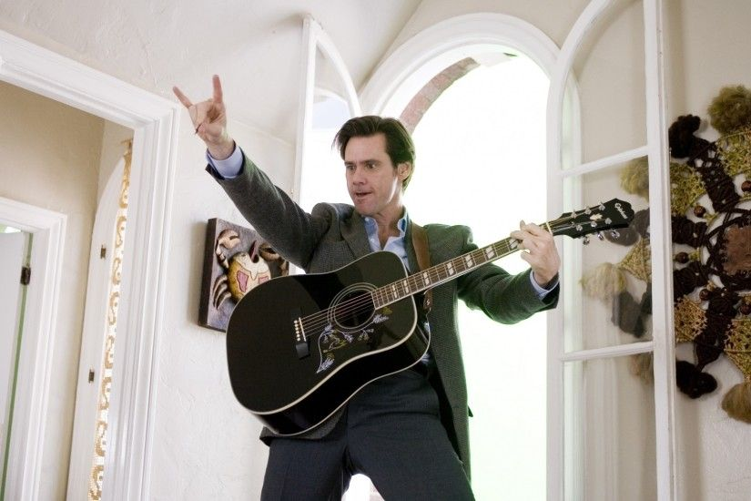 1920x1080 Wallpaper jim carrey, actor, man, guitar, celebrity