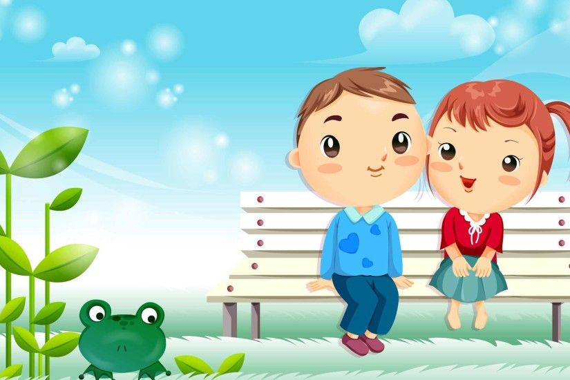 Love Couple Cartoon Wallpapers
