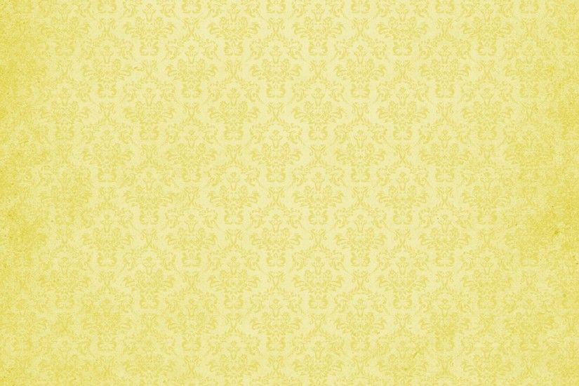 Damask Vintage Background Yellow