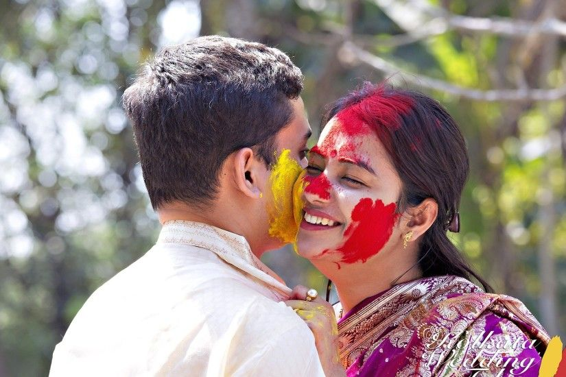 Holi romantic couple wallpapers