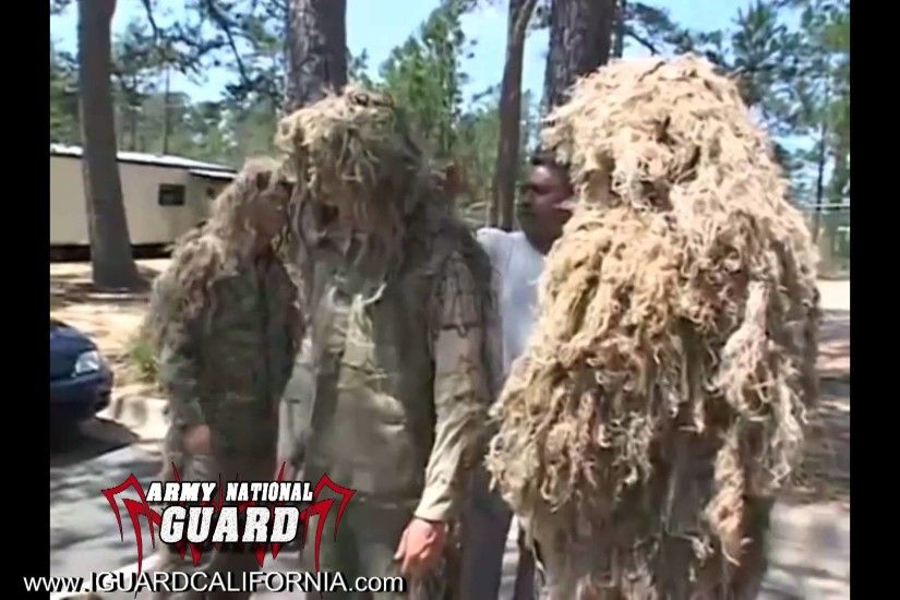 Army Sniper School - Perfecting The Ghillie Suit - YouTube