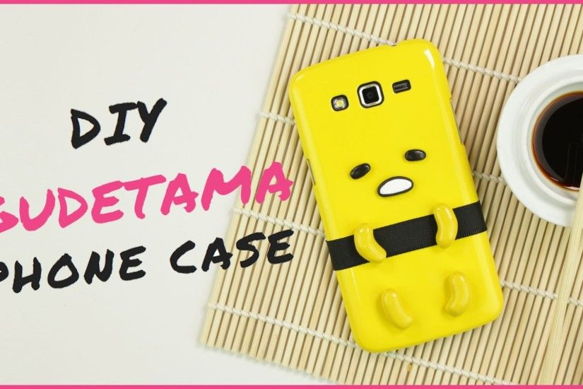 DIY gudetama Phone Case | DIY Iphone Case | ぐでたま Polymer Clay Tutorial -  YouTube