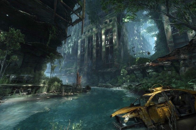 Water video games Crysis destroyed abandoned city abandoned Crysis 3 game  wallpaper | 1920x1080 | 287109 | WallpaperUP
