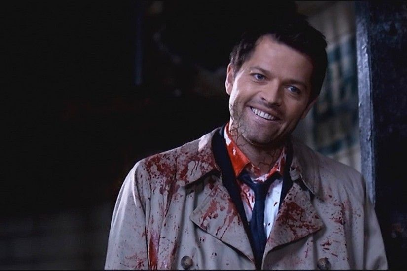 Bsically, buy a classic Castiel trenchcoat and ruin it. Must have  accessory: Black goo