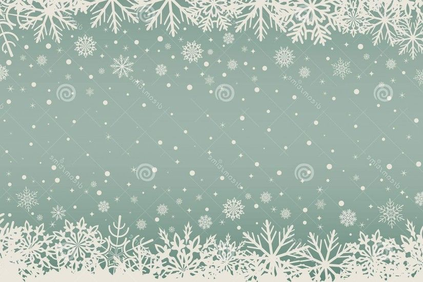 Snowflake Border Pattern Vector: Abstract Christmas Background Snowflake  Borders White Copy Space Center Vector Illustration
