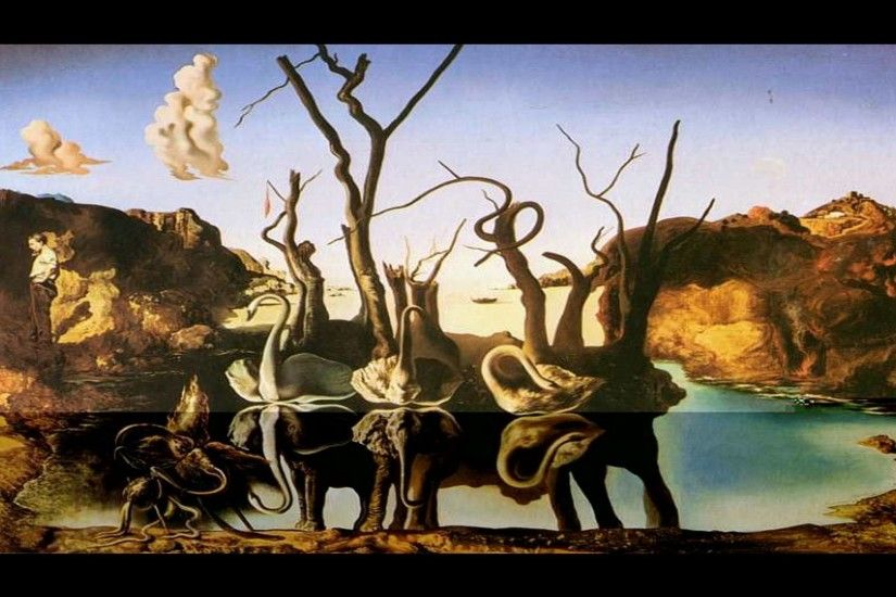 Artwork by Salvador Dali | Salvador Dalí Wallpaper – Swans Reflecting  Elephants