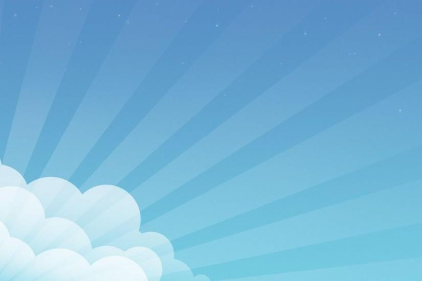 Blue Cloud Sunlight Vector Wallpaper
