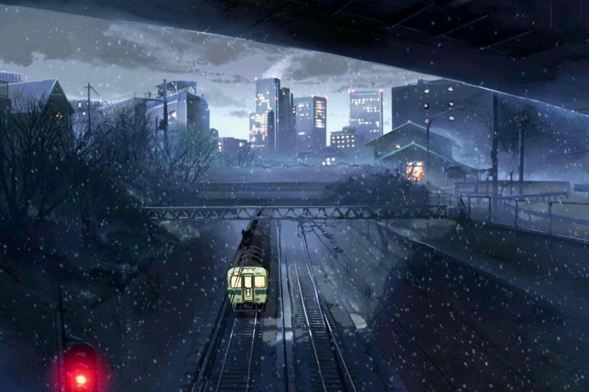 5 Centimeters per Second Anime Girl Train Station · HD Wallpaper |  Background ID:234821