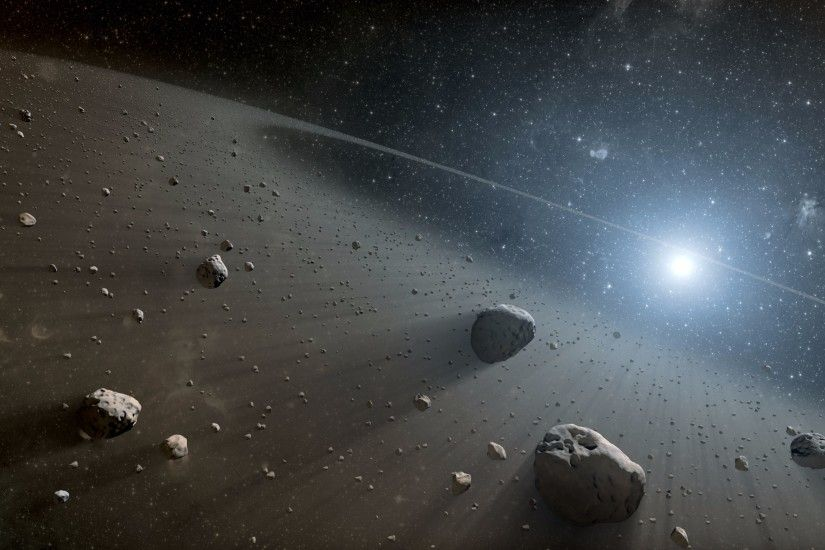 Falling Asteroid 4K Wallpaper