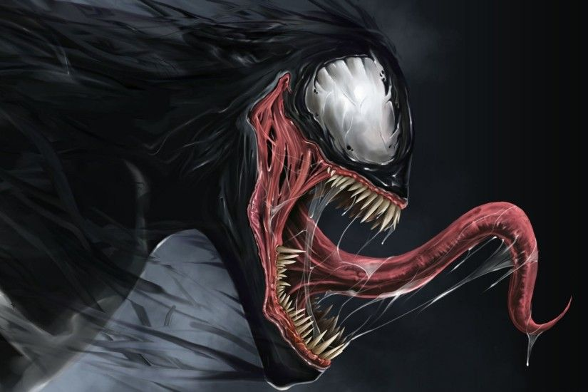 Preview wallpaper venom, marvel comics, spider-man 1920x1080