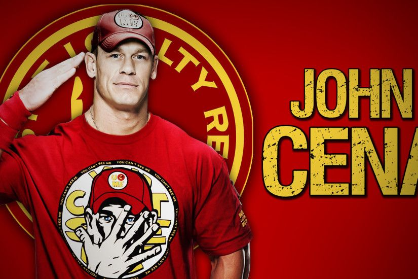 John Cena Red Tshirt Wallpaper