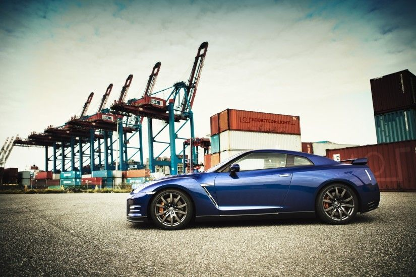blue nissan gtr wallpapers high quality with high resolution wallpaper .