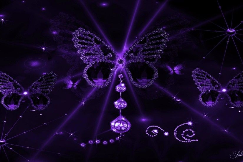 FZ653: <b>Purple Butterfly Desktop Wallpaper</b>, <b