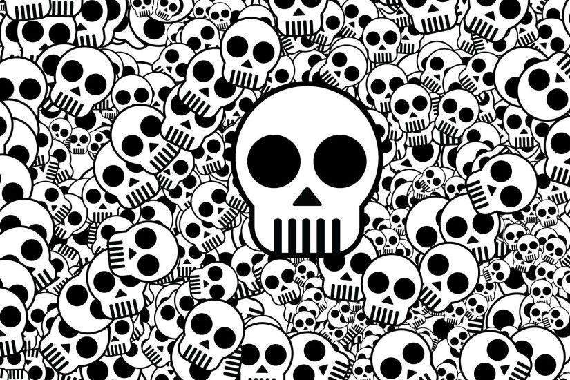 Preview wallpaper skull, texture, black white, surface 1920x1080