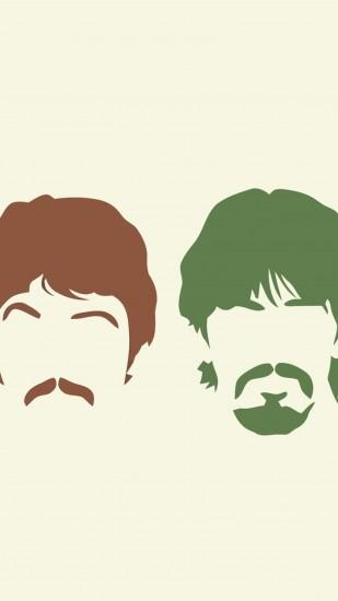 Preview wallpaper the beatles, silhouette, haircut, mustache, members  1440x2560