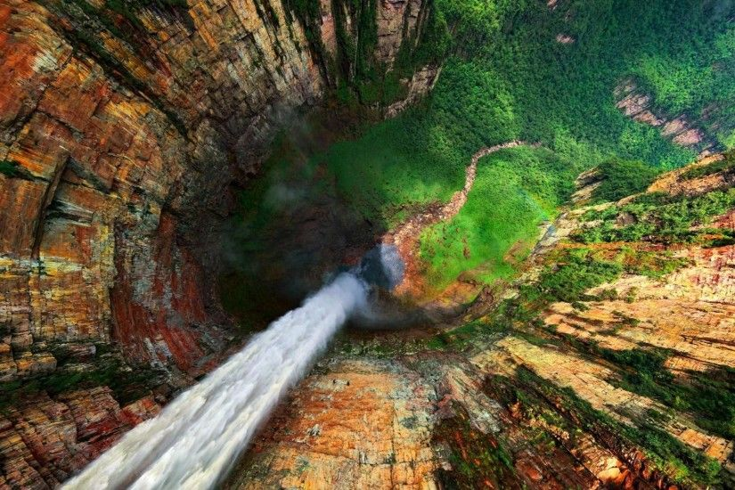 HD Angel Waterfalls Venezuela Desktop Wallpaper In High Definition Wide Free