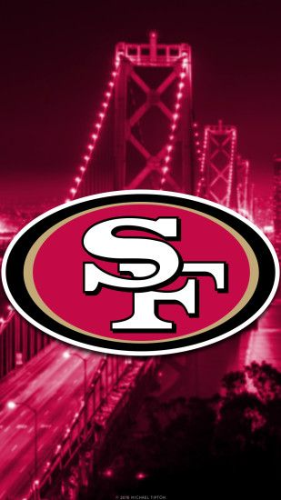 ... San Francisco 49ers city 2017 logo wallpaper free iphone 5, 6, 7, galaxy