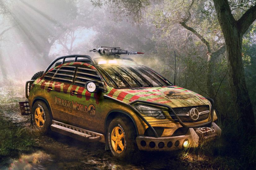 Jurassic World 2015 Mercedes-Benz GLE Coupé 1920x1200 wallpaper