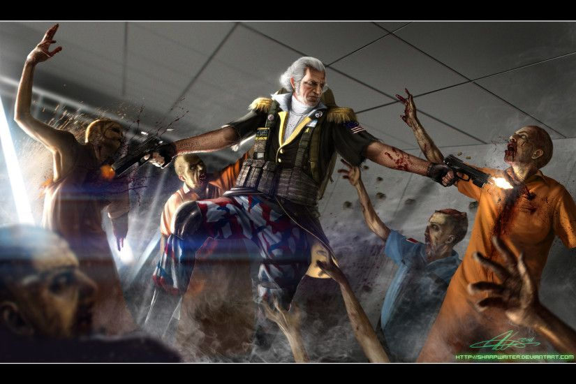 Have one of the founding fathers killing zombies.