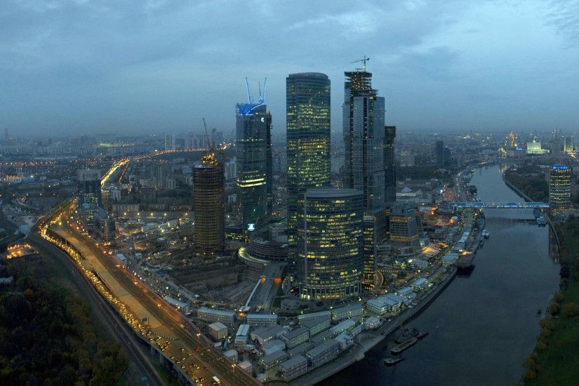 The Moscow Skyscrapers are under construction