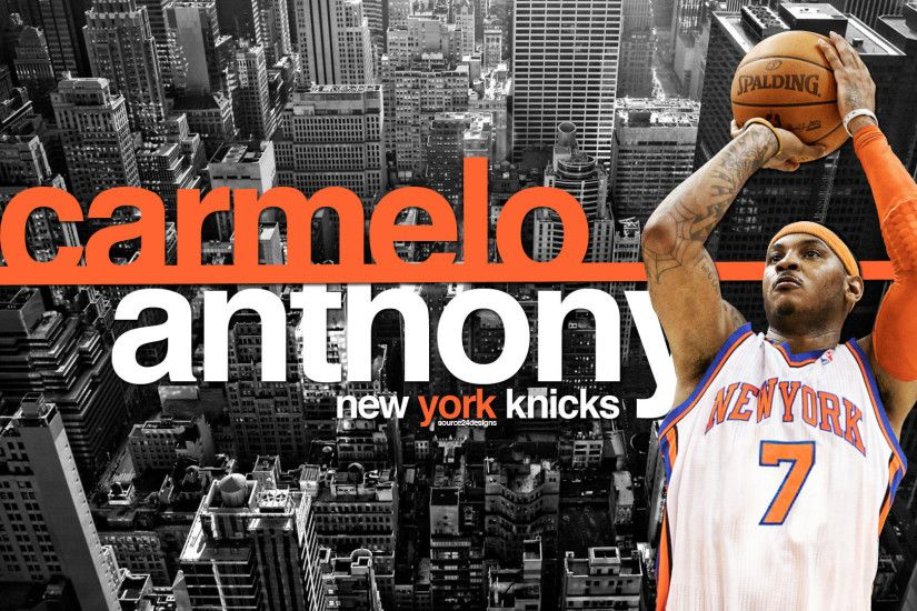 1920x1080 Carmelo Anthony Wallpaper – In New York Knicks Jersey, Fighting  for .