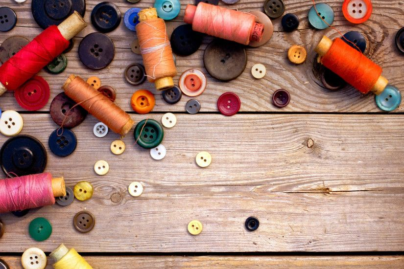 1920x1080 Wallpaper thread, ussr, buttons, sewing, wood background