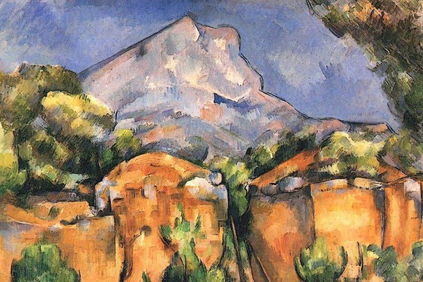 "... Sainte-Victoire Seen from the Bibemus Quarry"" (1897) by Paul. """