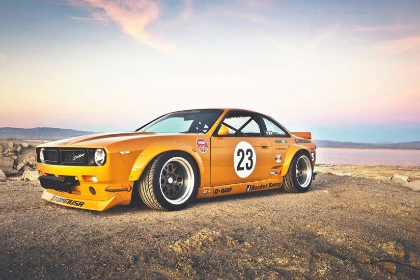 1920x1200 Wallpaper nissan 240sx, rocket bunny, side view