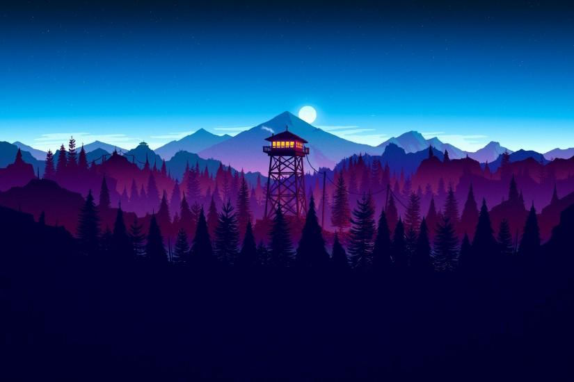 widescreen firewatch wallpaper 3840x2160