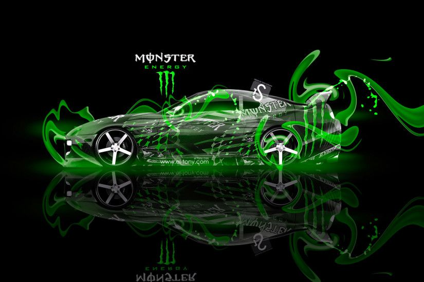 Monster-Energy-Toyota-Supra-Fantasy-Green-Plastic-2013-