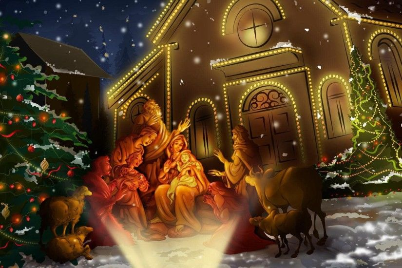 Christian Christmas Nativity Religious · HD Wallpaper | Background ID:471539