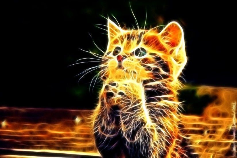 3d Animal Background Cat Cute Wallpaper At 3d Wallpapers