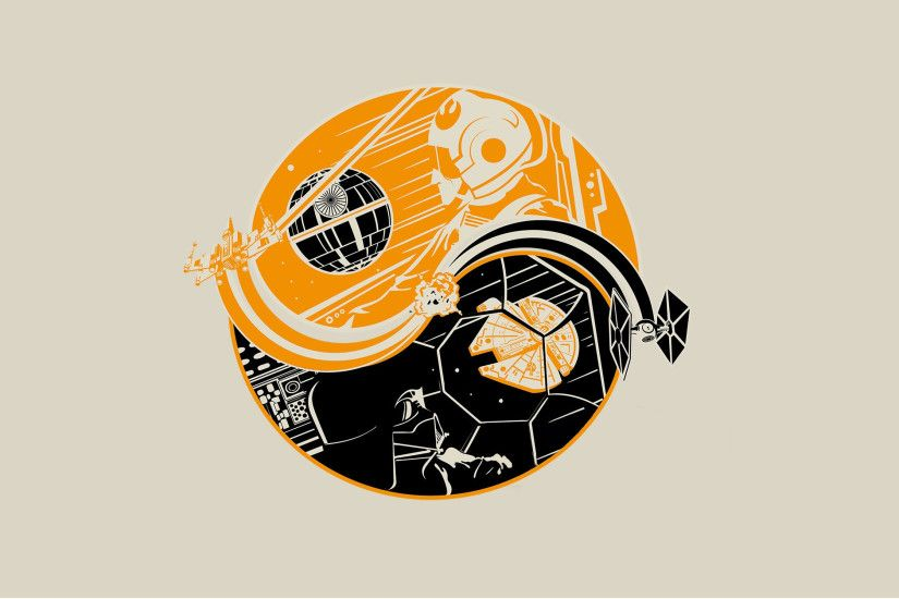 Star Wars Yin Yang Wallpaper - Death of a Star/Birth of a Hero