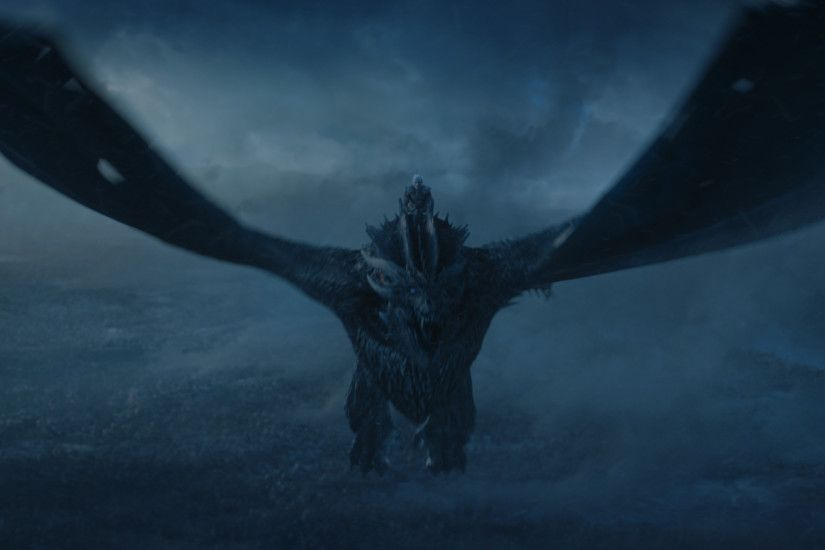 The Night King rides his undead dragon in Game of Thrones' season seven  finale.