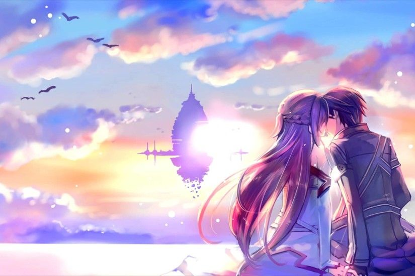 Romantic Asuna And Kirito Sword Art Online Wallpaper #2815 .