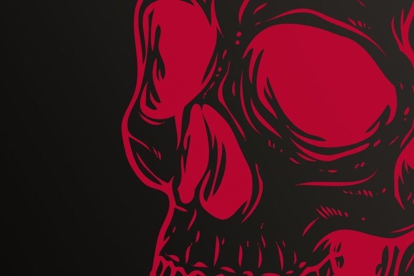 Skull Red Wallpaper At Dark Wallpapers
