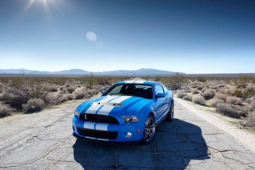 Blue Ford Mustang HD Wallpaper 5728 #2166