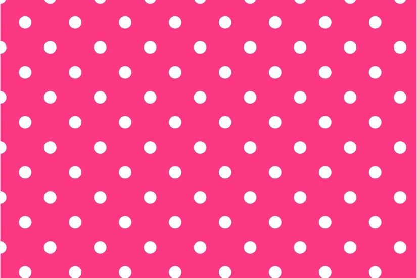 Hot Pink Polka Dot Background