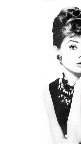 Free Audrey Hepburn iPhone 6 Plus Wallpaper