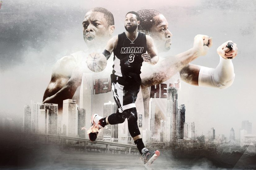 D Wade Miami Heat 2015 Wallpaper.