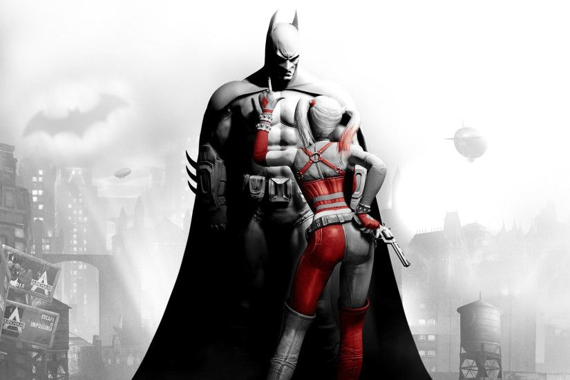 Harley Quinn & Batman 1920x1080 wallpaper