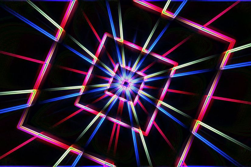 Neon lights star squares tunnel background loop - 1080p Motion Background -  VideoBlocks