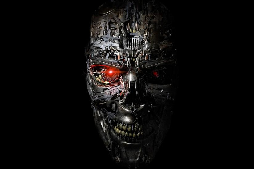 Preview wallpaper terminator, genesis, robot, face 3840x2160