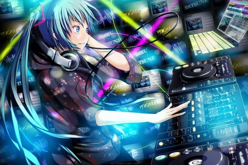 Anime DJ Music Wallpaper Picture.